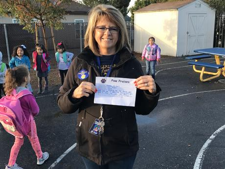Ms. Piper received a Paw Praise from Ms. Clark